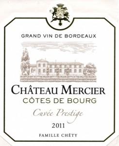 Bordeaux Côtes de Bourg-Château Mercier-Etiquette