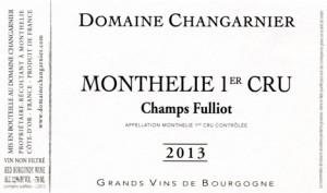 Bourgogne Côte de Beaune-Domaine Changarnier-Etiquette
