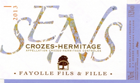 Rhône (Crozet) Hermitage-Domaine Fayolle-Etiquette