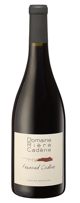 Roussillon-Domaine Rière Cadène-Etiquette1